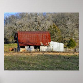 Barn In The Ozarks Poster