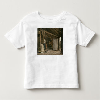 Barn Interior with a Maid Churning Butter Toddler T-Shirt