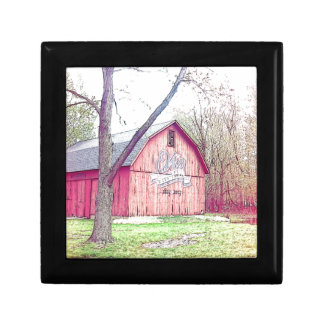 Barn Of The 60's Small Square Gift Box