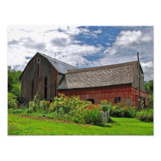 Barn on Sunny Summer Day Photograph