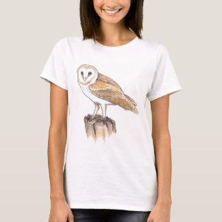 barn owl bird ornithology wicca pagan tshirt