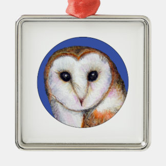 Barn Owl Bird Painting Christmas Ornament