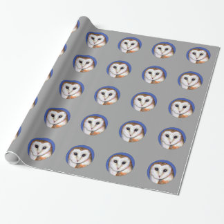 Barn Owl Bird Painting Wrapping Paper