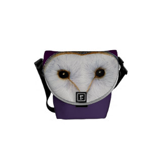 Barn Owl Bird Watercolor Painting Artwork Print Courier Bags