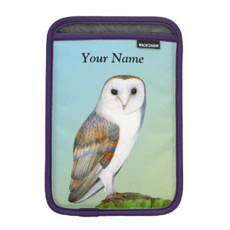 Barn Owl Bird Watercolor Painting Wildlife Artwork iPad Mini Sleeve