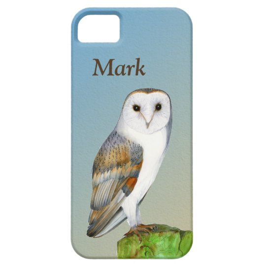 Barn Owl Bird Watercolor Painting Wildlife Artwork iPhone