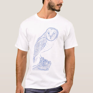 Barn Owl (blue) T-Shirt