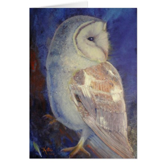 Barn Owl. Card