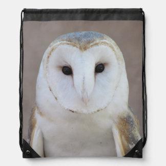 Barn Owl Drawstring Backpack