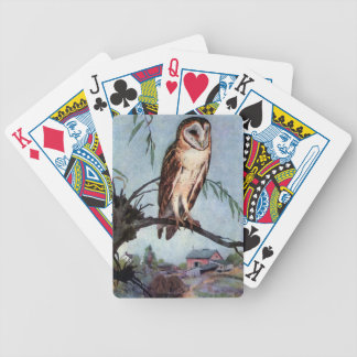 Barn Owl, Farmhouse and Barn Bicycle Playing Cards