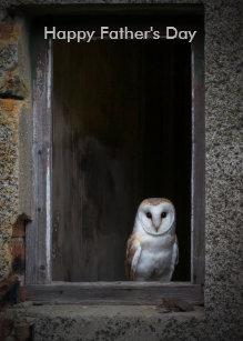 owl fathers day cards zazzle uk