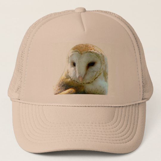 Barn Owl Head Shot Trucker Hat