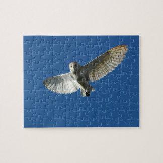 Barn Owl in Daytime Flight Jigsaw Puzzle