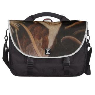 barn owl in pastel animal painting laptop bags