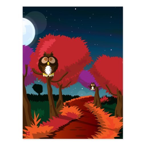 Barn Owl in the Moonlight Art Post Cards