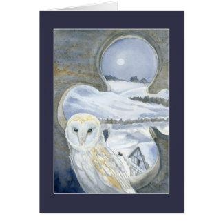 Barn Owl In Winter Card