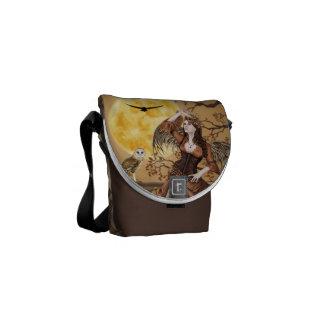 Barn Owl Masquerade Fairy Angel - Messenger Bag