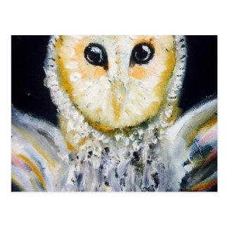 Barn Owl Oil Painting Postcard