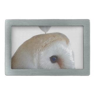 Barn Owl Pattern Belt Buckle