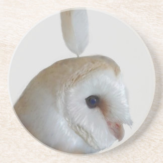 Barn Owl Pattern Coaster