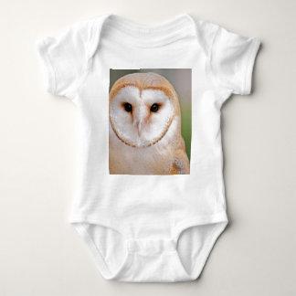 Barn Owl Portrait Baby Bodysuit