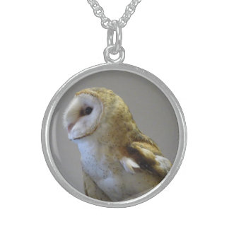 Barn Owl Portrait Necklace