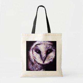 Barn Owl Print Night Owl Black Purple Dark Gothic Bags