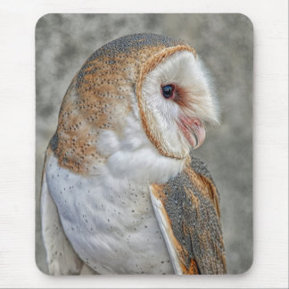 Barn Owl Profile Mouse Mat