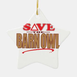 Barn Owl Save Christmas Ornament