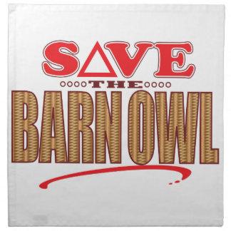 Barn Owl Save Napkin