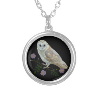 Barn Owl Silver Plated Necklace