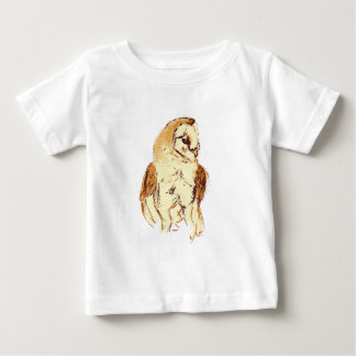 Barn Owl Sketch Baby T-Shirt