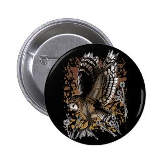 Barn Owl Stance 6 Cm Round Badge