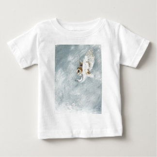 Barn Owl swooping with claws out Baby T-Shirt