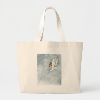 Barn Owl swooping with claws out Canvas Bags