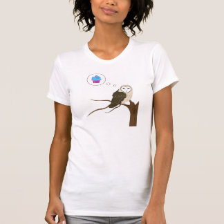 Barn Owl Thinking of Cupcake T-shirt