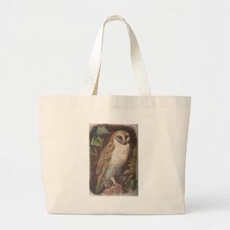 barn owl tote bags