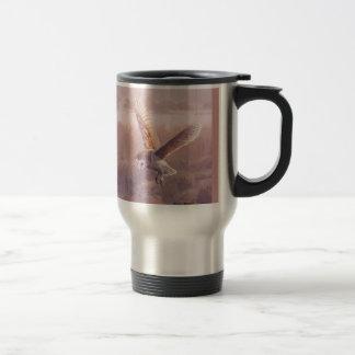 Barn Owl Travel Coffee Mug