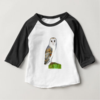 Barn Owl Tyto Alba Watercolor Artwork Print Baby T-Shirt