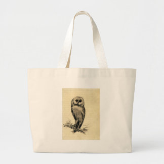 Barn Owl Viewed from the Front by Vincent van Gogh Jumbo Tote Bag