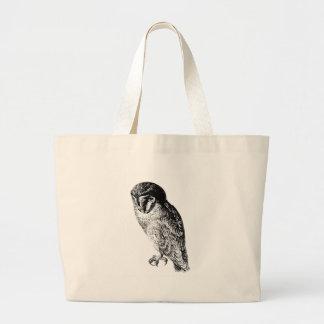 Barn Owl Vintage Wood Engraving Bag