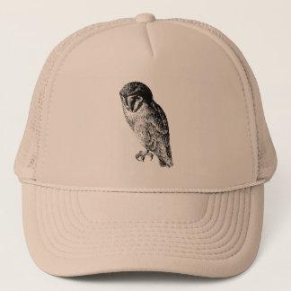 Barn Owl Vintage Wood Engraving Trucker Hat