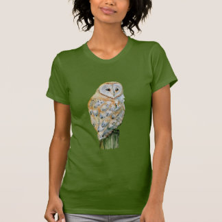 Barn owl watercolor T-Shirt