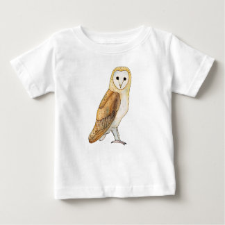 Barn Owl watercolour Baby T-Shirt