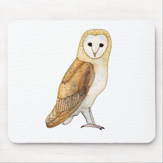 Barn Owl watercolour Mouse Mat