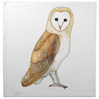 Barn Owl watercolour Napkin