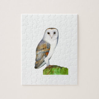 Barn Owl Watercolour Painting Jigsaw Puzzle