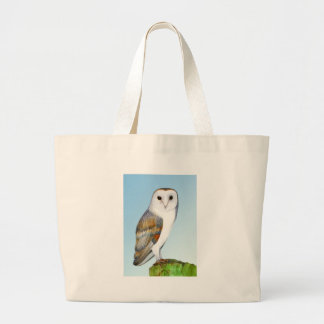 Barn Owl Watercolour Painting Large Tote Bag