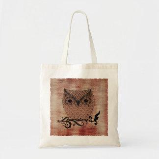 Barn Owl Whimsical Country Budget Tote Bag
