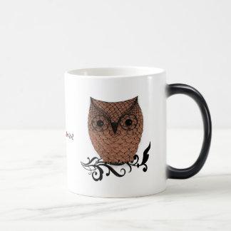 Barn Owl Whimsical Country Morphing Mug